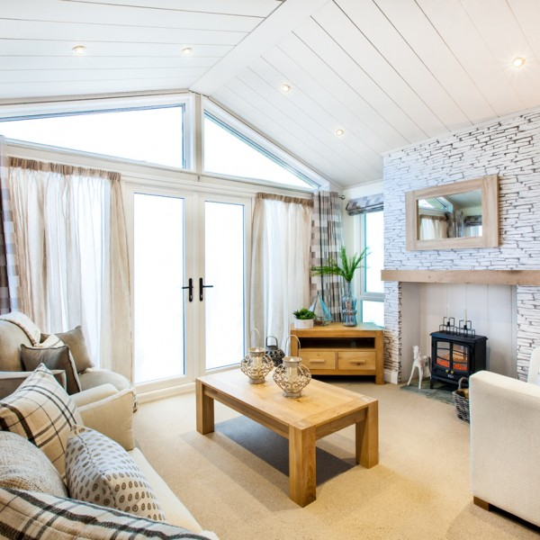 Holiday lodges with sea views on the Suffolk Coast.