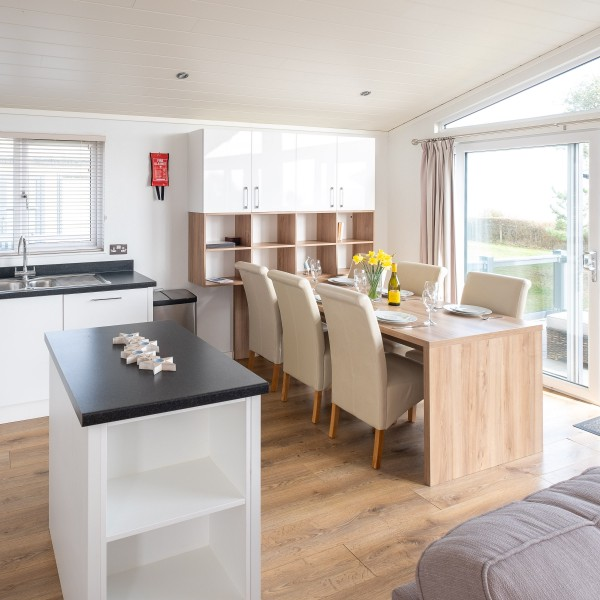 Luxury rental lodges with sea view in Suffolk.