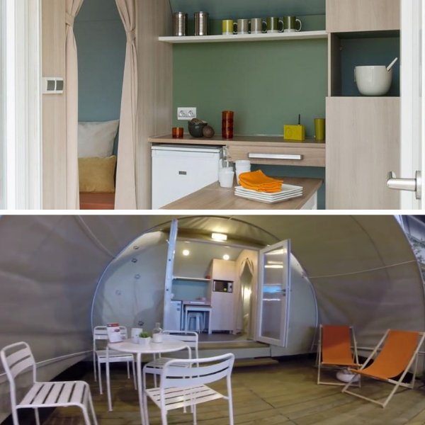 Glamping accommodation on the Suffolk Coast.