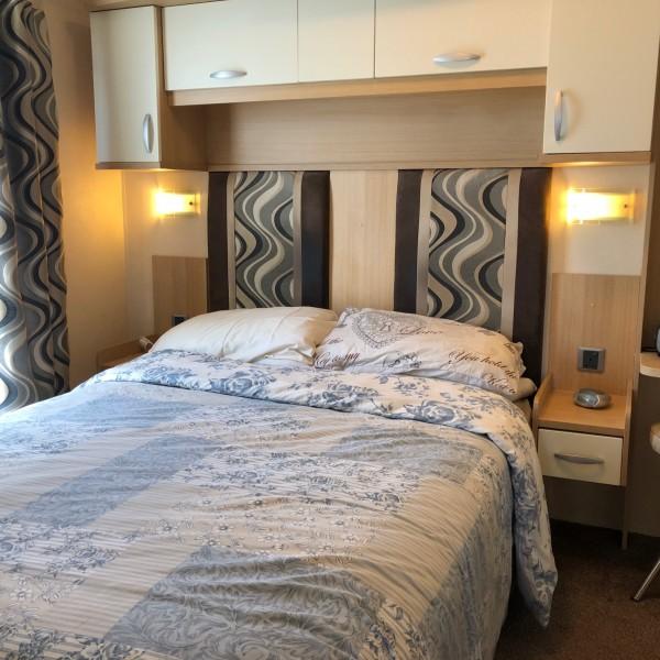 Swift Moselle caravan master bedroom.